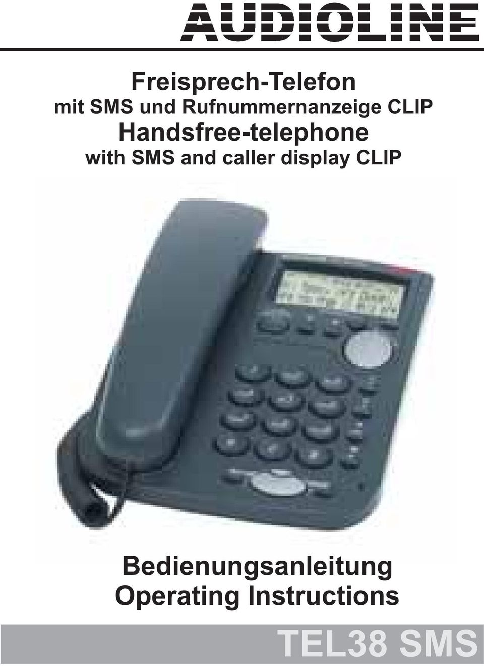 Handsfree-telephone with SMS and caller