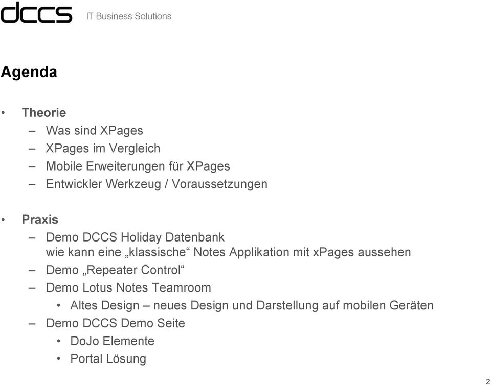 Applikation mit xpages aussehen Demo Repeater Control Demo Lotus Notes Teamroom Altes Design