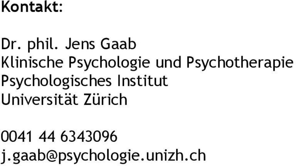 Psychotherapie Psychologisches Institut