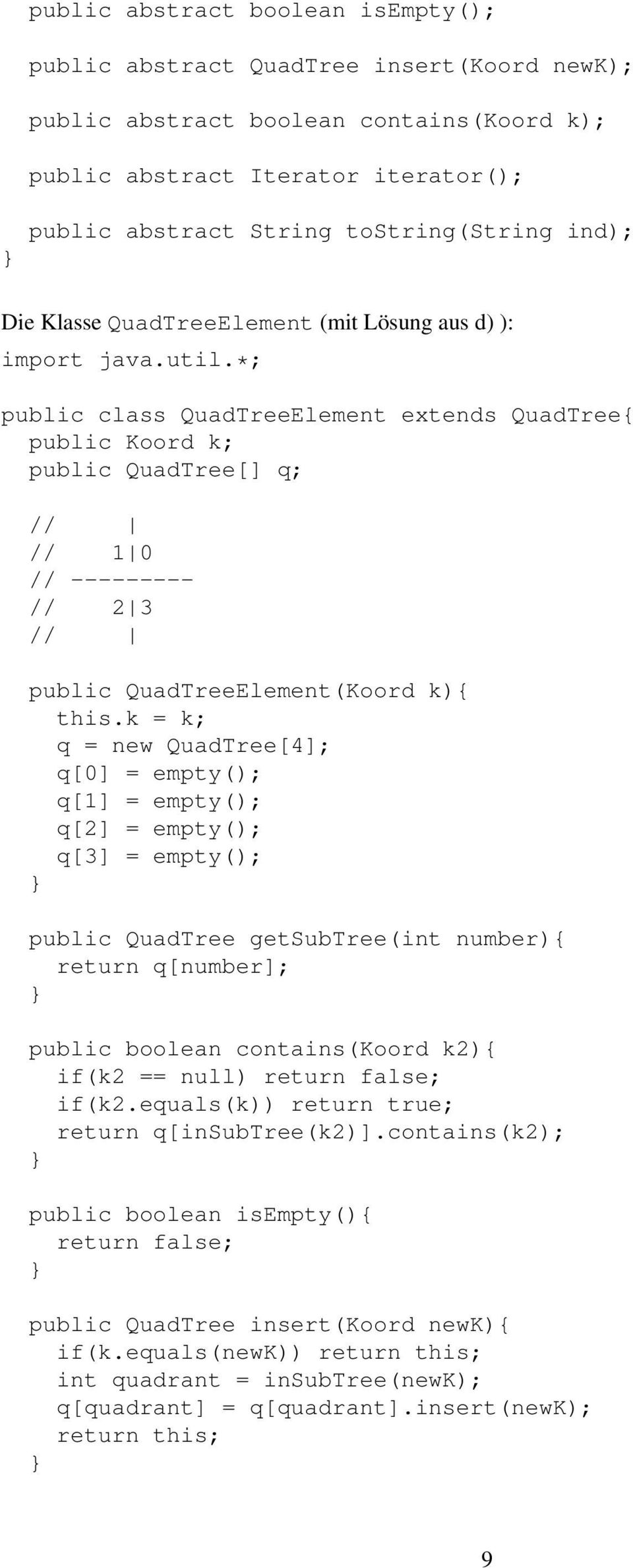 QuadTreeElement(Koord k){ this.