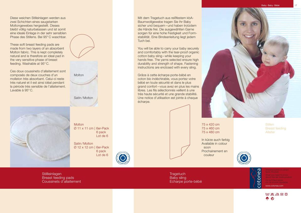 fcc3a07d81b These soft breast feeding pads are made from two layers of an absorbent  Molton fabric.