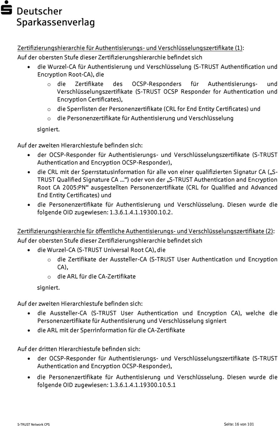 Authentication und Encryption Certificates), o o signiert.