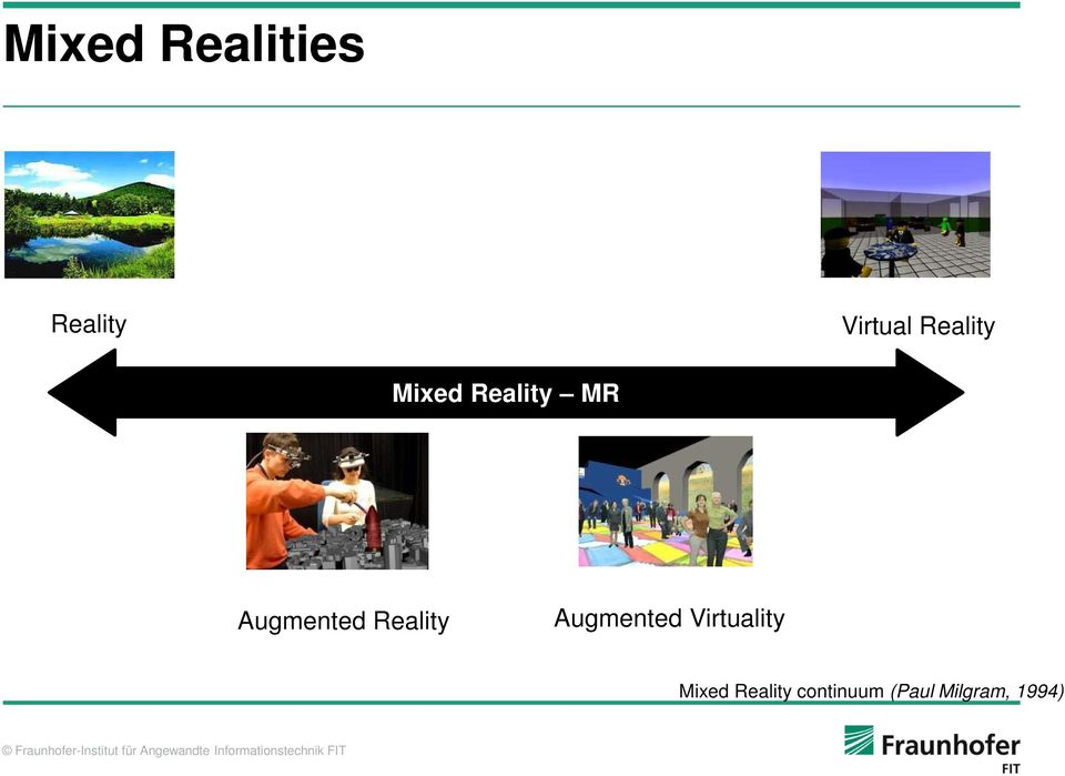 Reality Augmented Virtuality Mixed