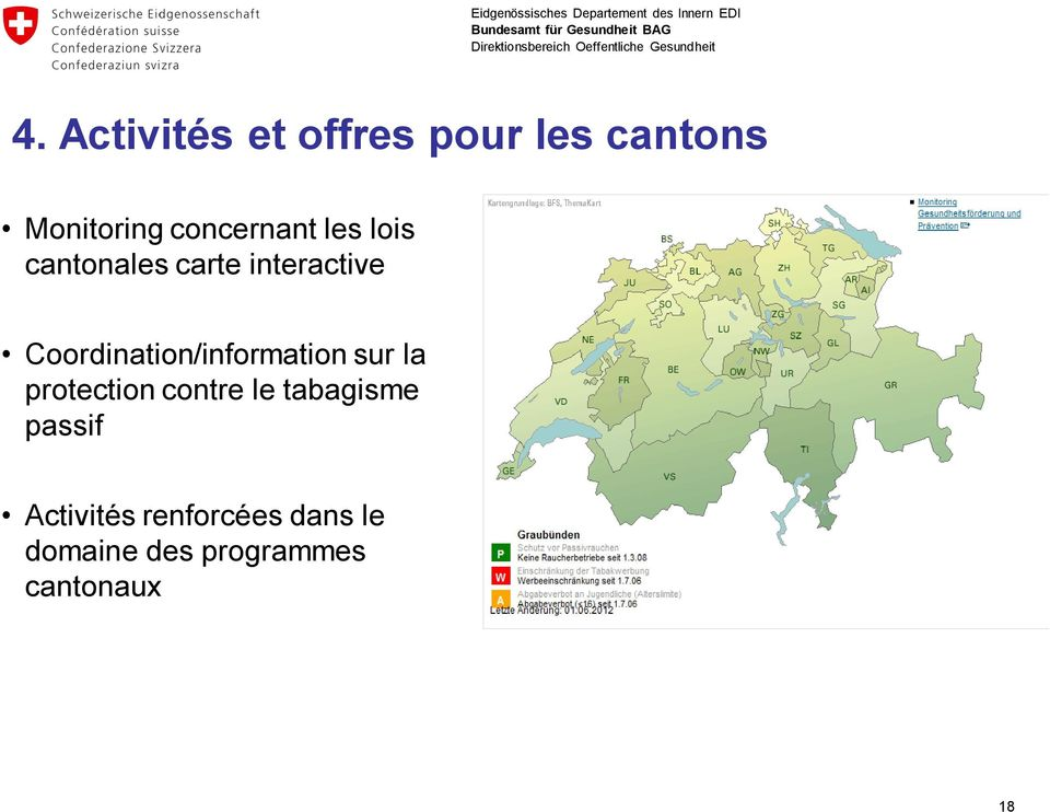 Coordination/information sur la protection contre le