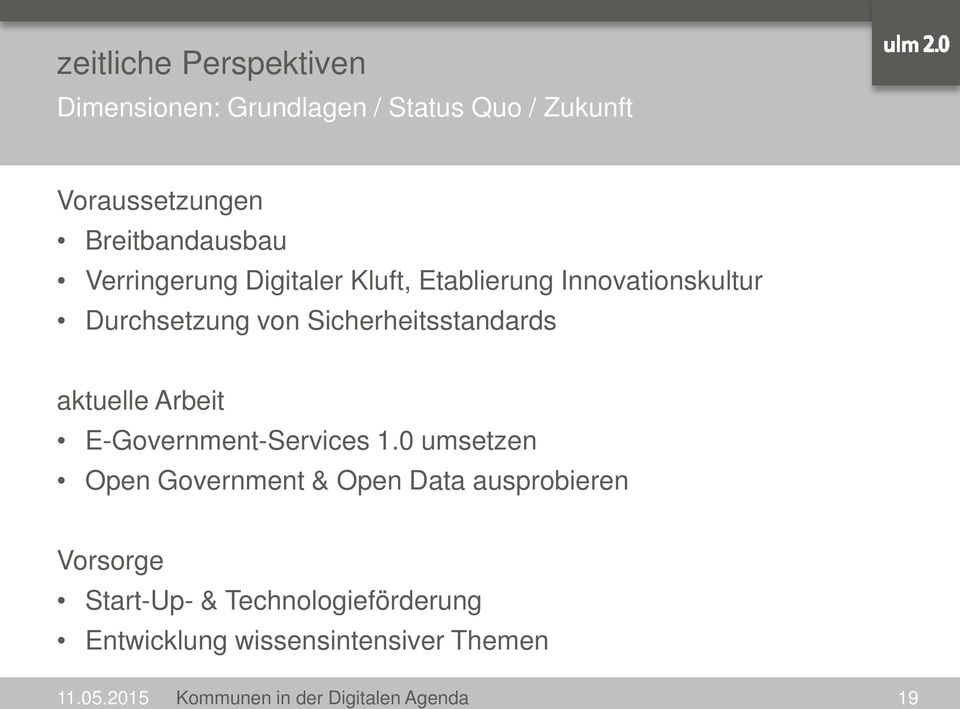 aktuelle Arbeit E-Government-Services 1.