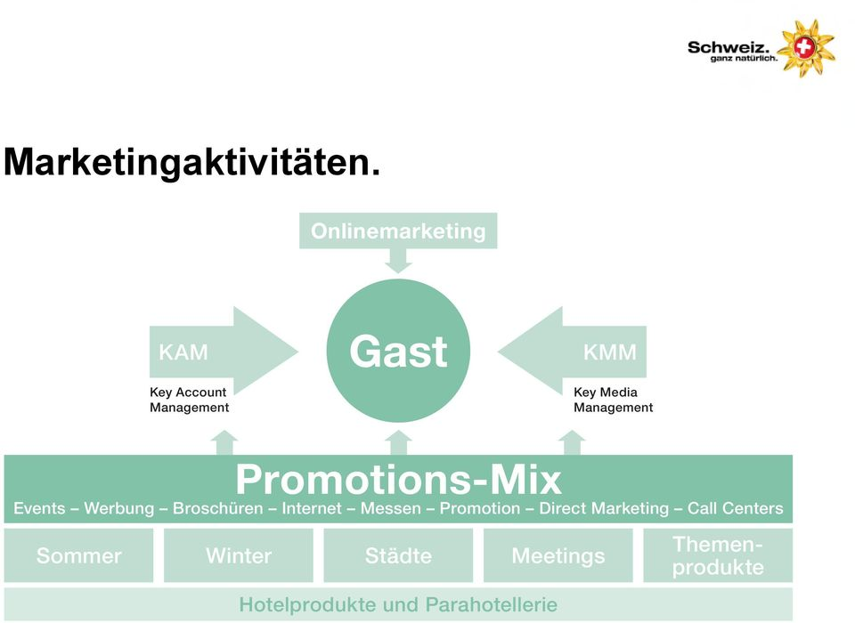 Management Promotions-Mix Events Werbung Broschüren Internet Messen