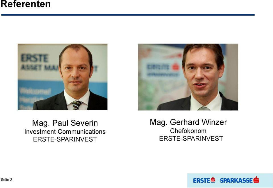 Communications ERSTE-SPARINVEST