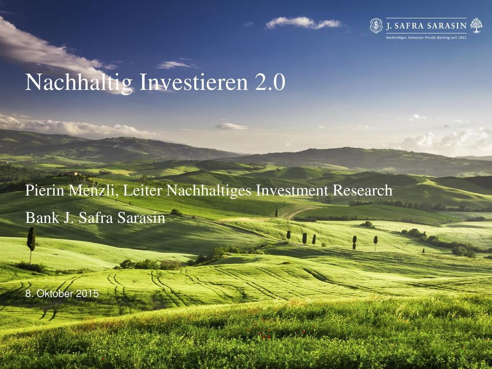 Nachhaltiges Investment Research