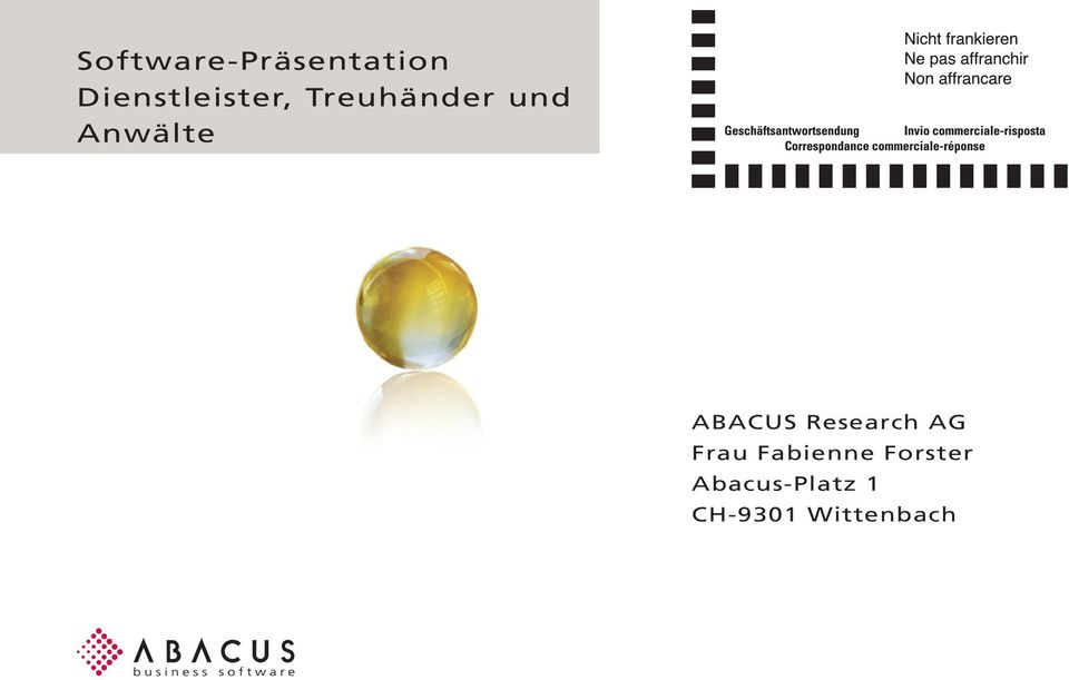 Anwälte ABACUS Research AG Frau