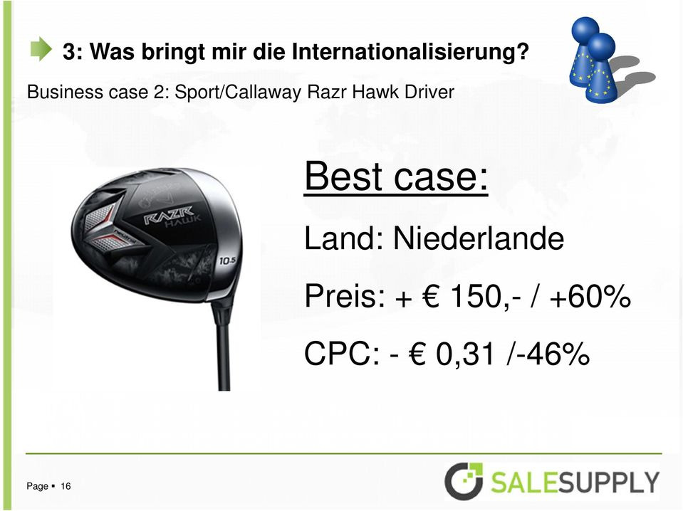 Business case 2: Sport/Callaway Razr Hawk