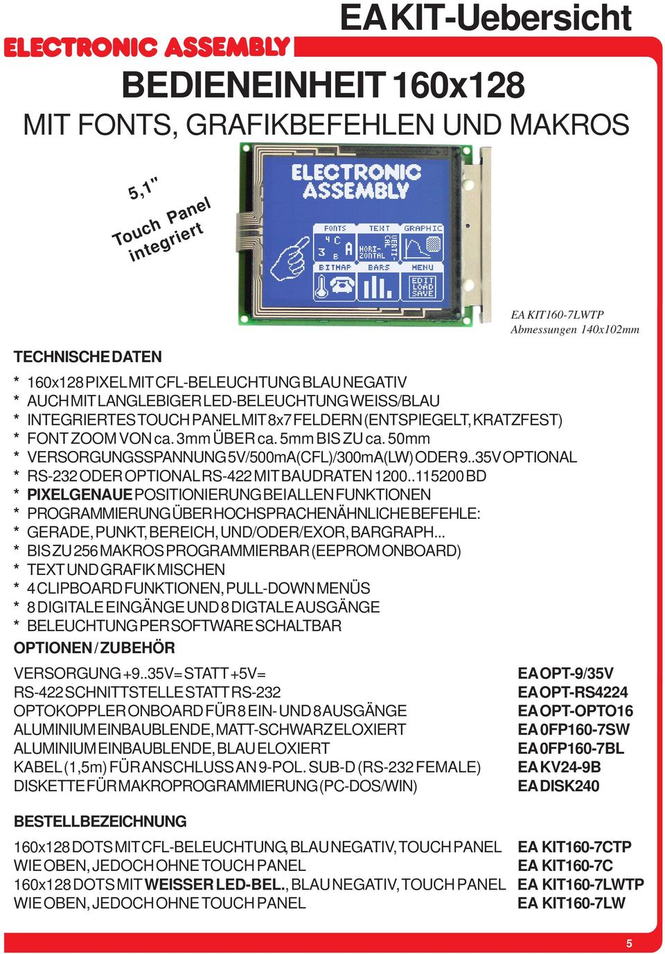 .35V OPTIONAL * RS-232 ODER OPTIONAL RS-422 MIT BAUDRATEN 1200.