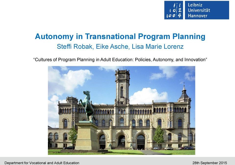 Education: Policies, Autonomy, and Innovation