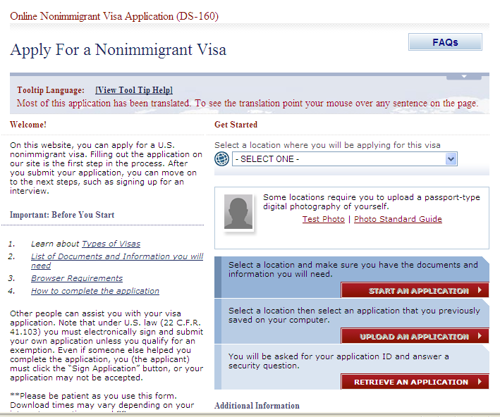 us department of state consular electronic application center ds 261