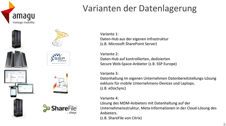 Microsoft SharePoint Server) Variante 2: Daten-Hub
