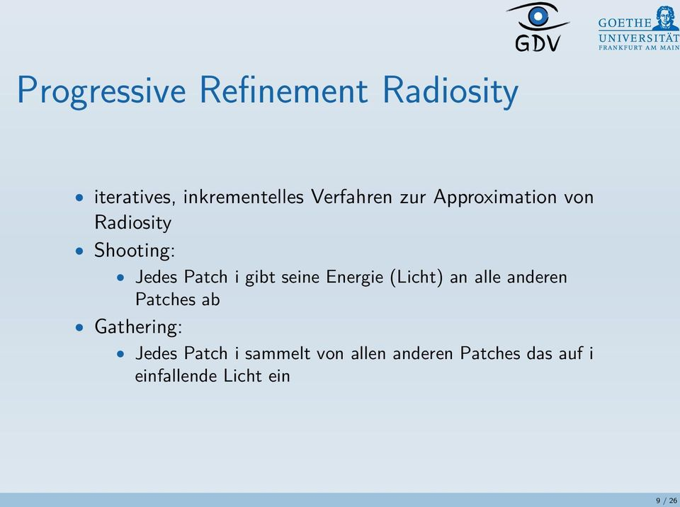 Energie (Licht) an alle anderen Patches ab Gathering: Jedes Patch i