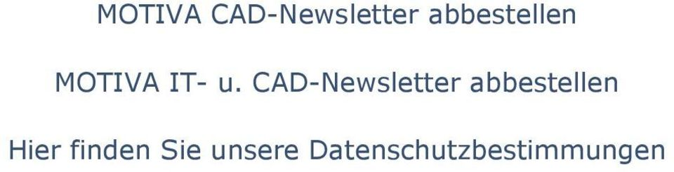 CAD-Newsletter abbestellen