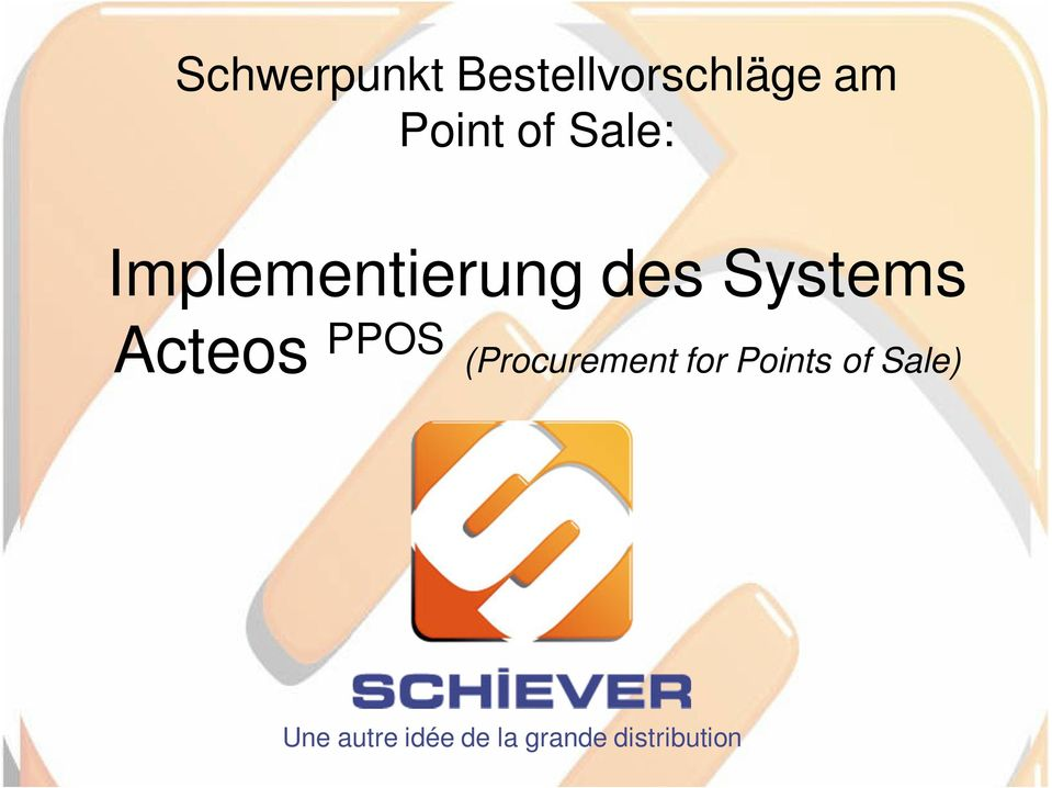 Acteos PPOS (Procurement for Points of