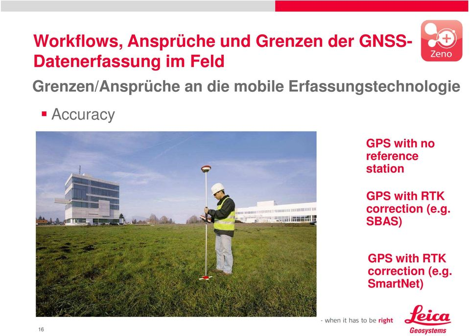 Erfassungstechnologie Accuracy GPS with no reference
