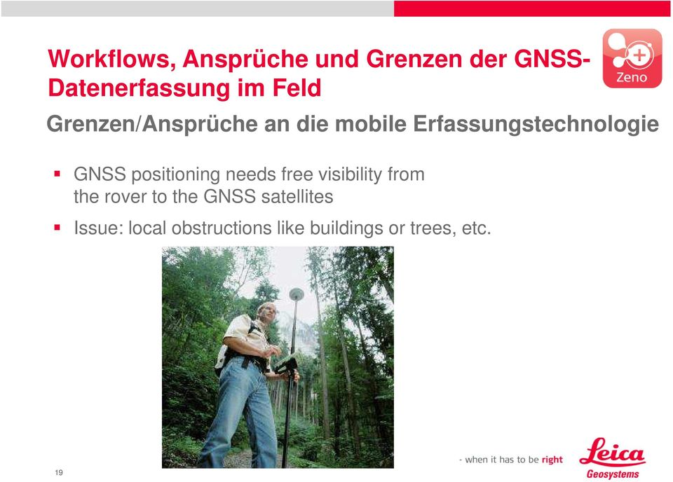 positioning needs free visibility from the rover to the GNSS