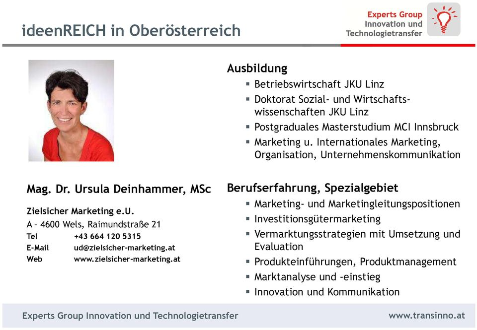 at Web www.zielsicher-marketing.