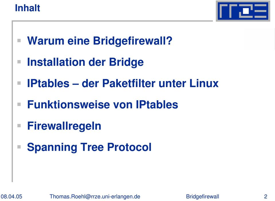 Paketfilter unter Linux Funktionsweise