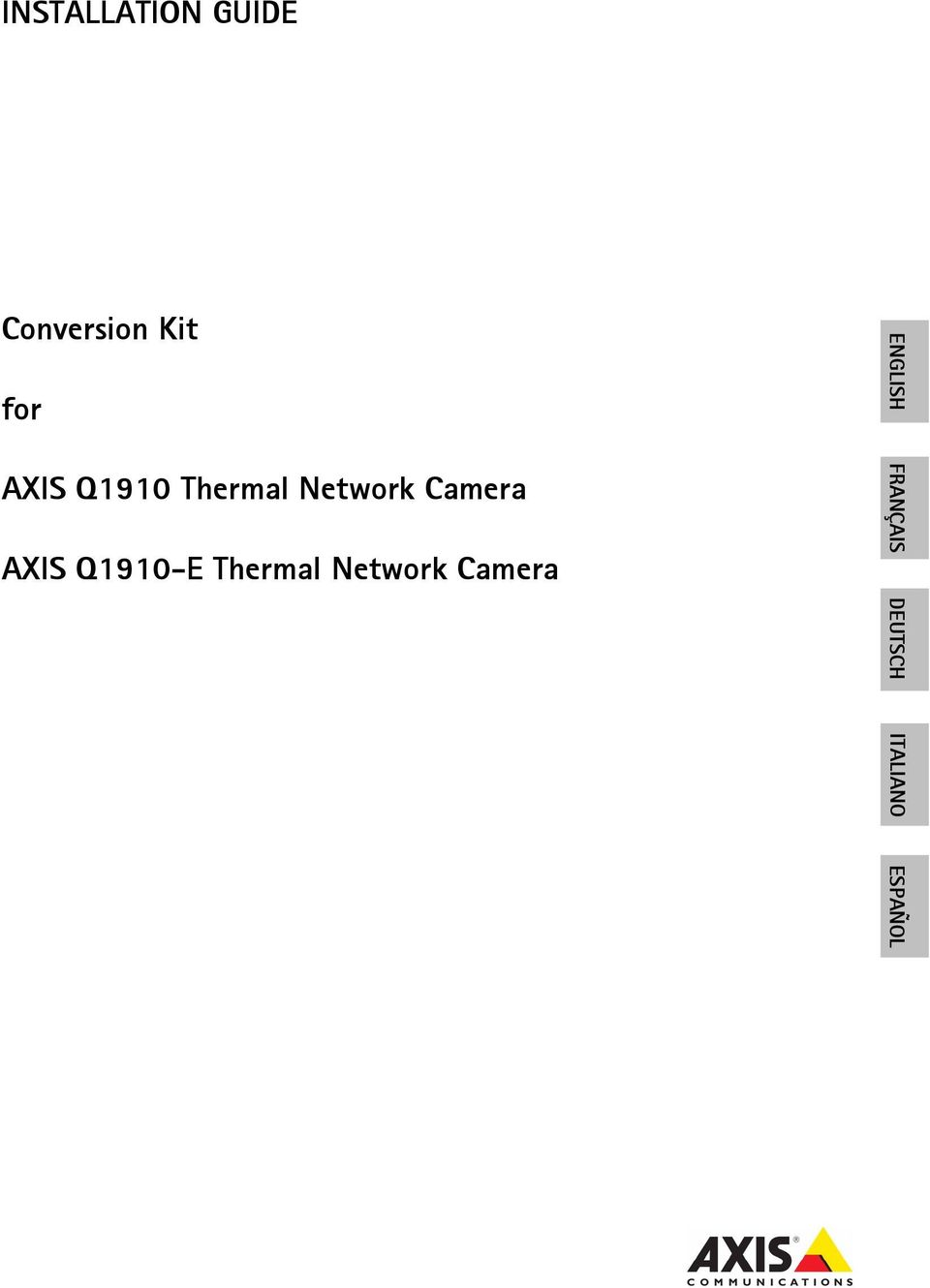 AXIS Q1910-E Thermal Network Camera