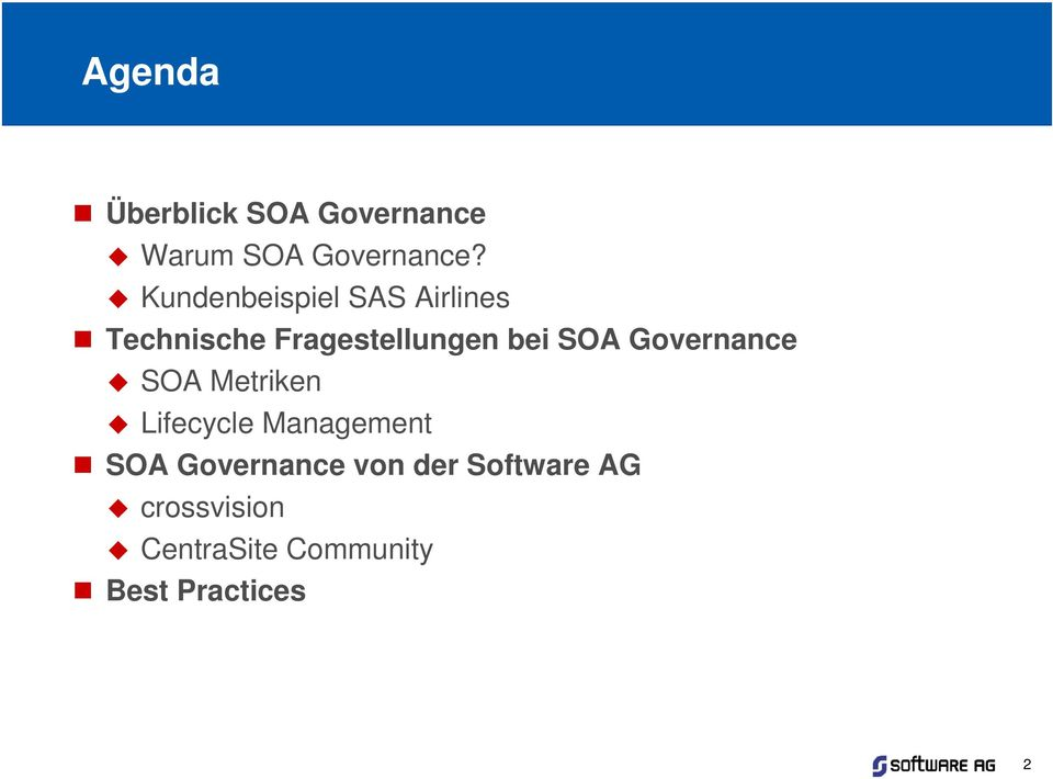 SOA Governance SOA Metriken Lifecycle Management SOA