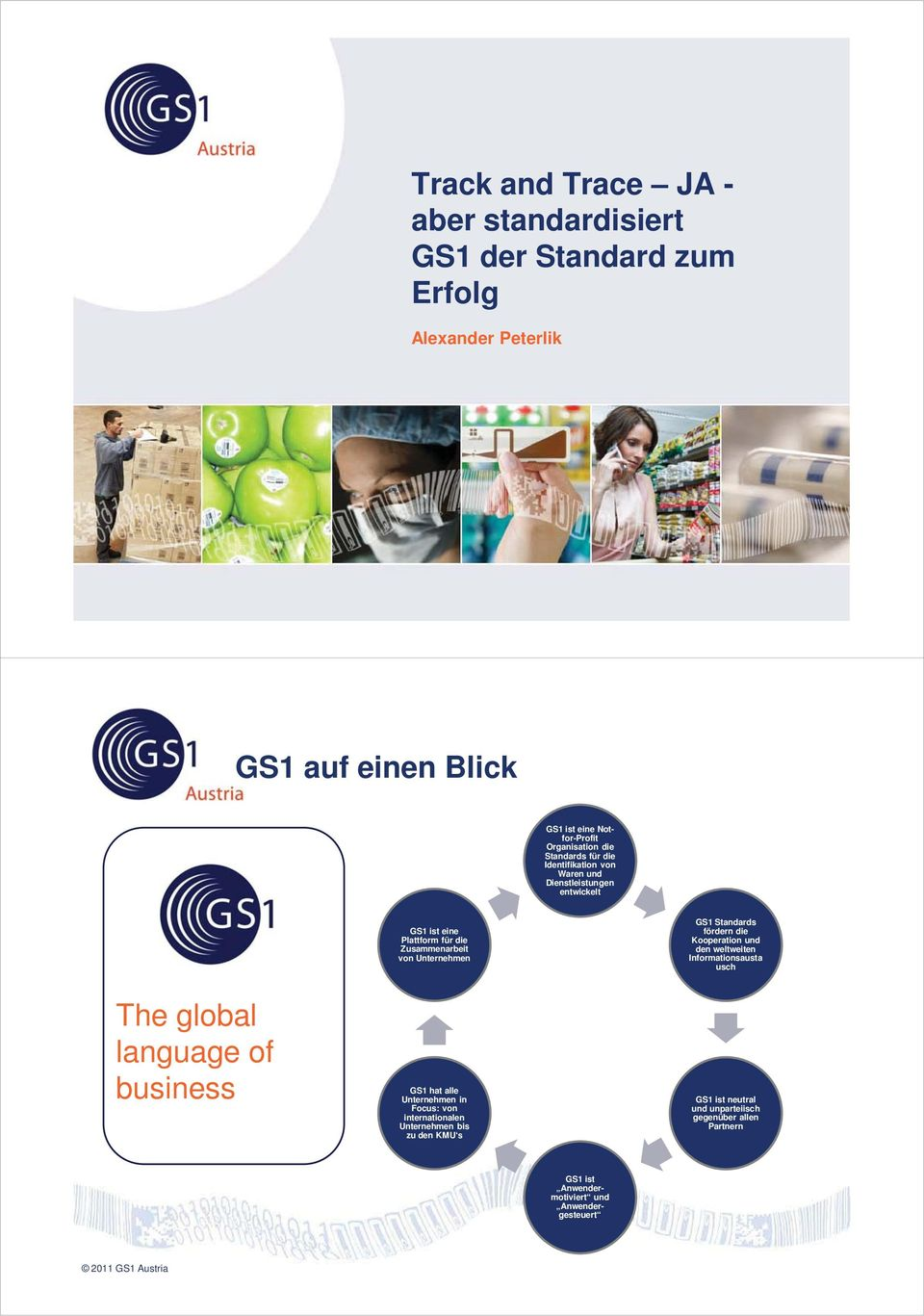 Standards fördern die Kooperation und den weltweiten Informationsausta usch The global language of business GS1 hat alle Unternehmen in Focus: von