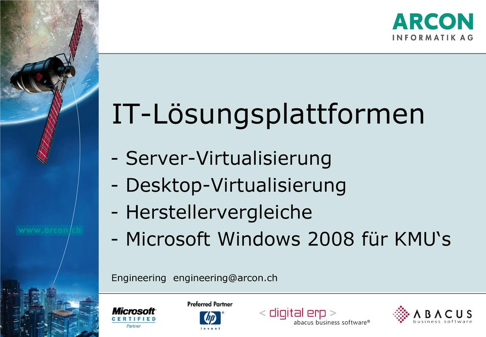 Microsoft Windows 2008 für KMU s Engineering