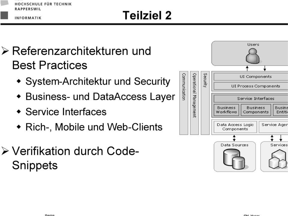 Business- und DataAccess Layer Service Interfaces