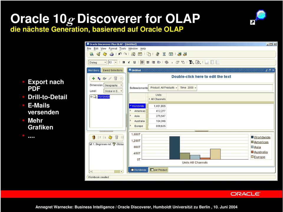 Oracle OLAP Export nach PDF