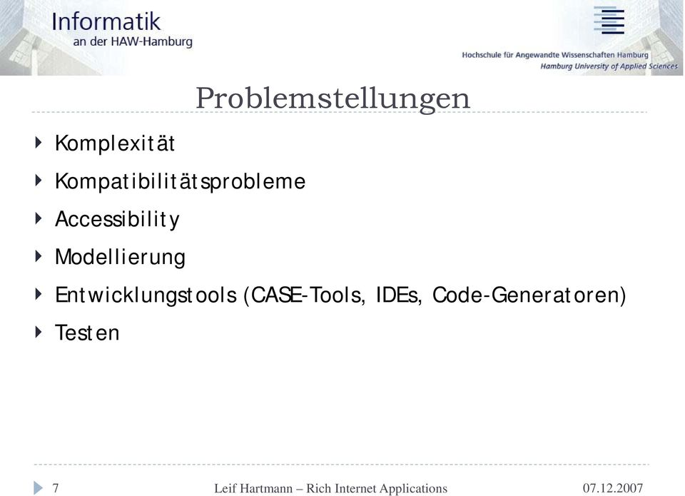 Accessibility Modellierung