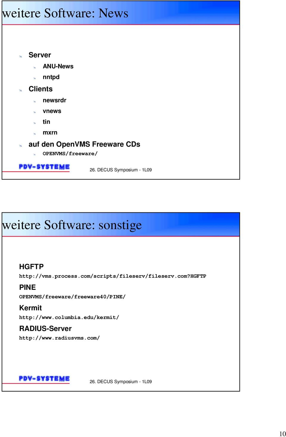 OPENVMS/freeware/ weitere Software: sonstige HGFTP http://vms.process.