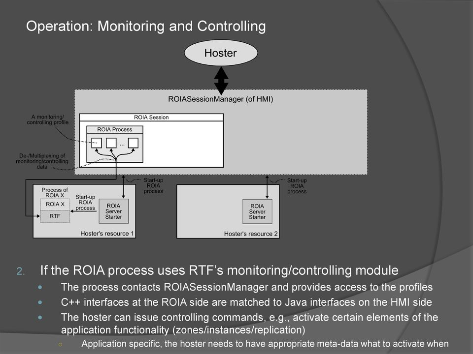 to the profiles C++ interfaces at the ROIA side are matched to Java interfaces on the HMI side The hoster can issue