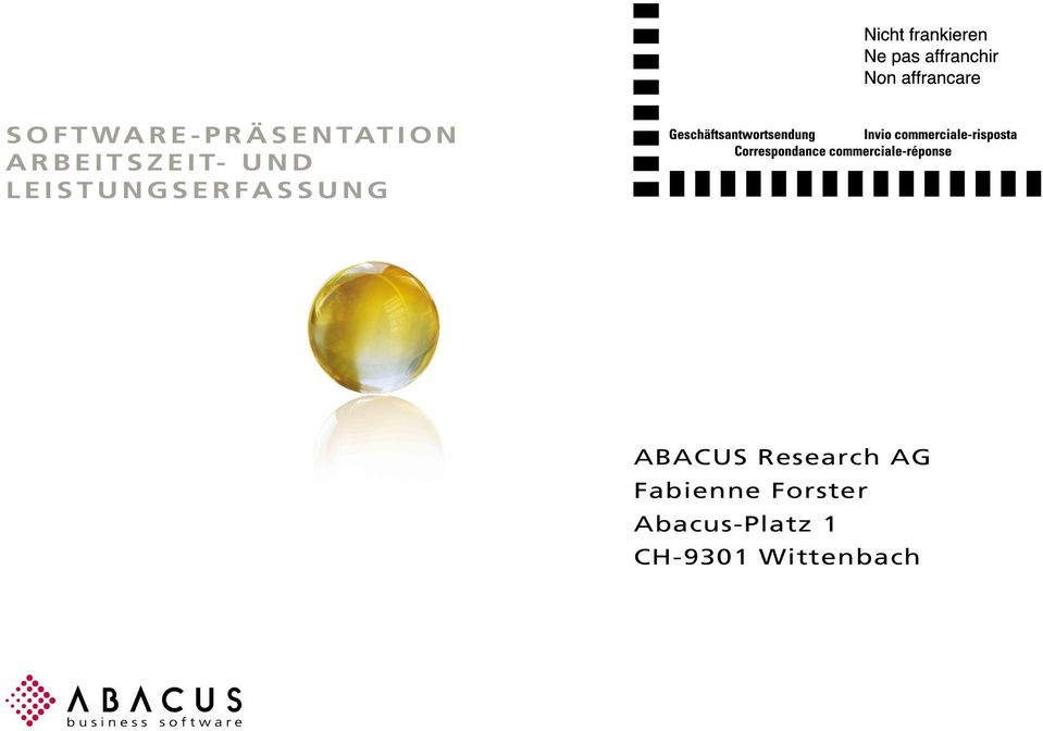 ERFASSUNG ABACUS Research AG