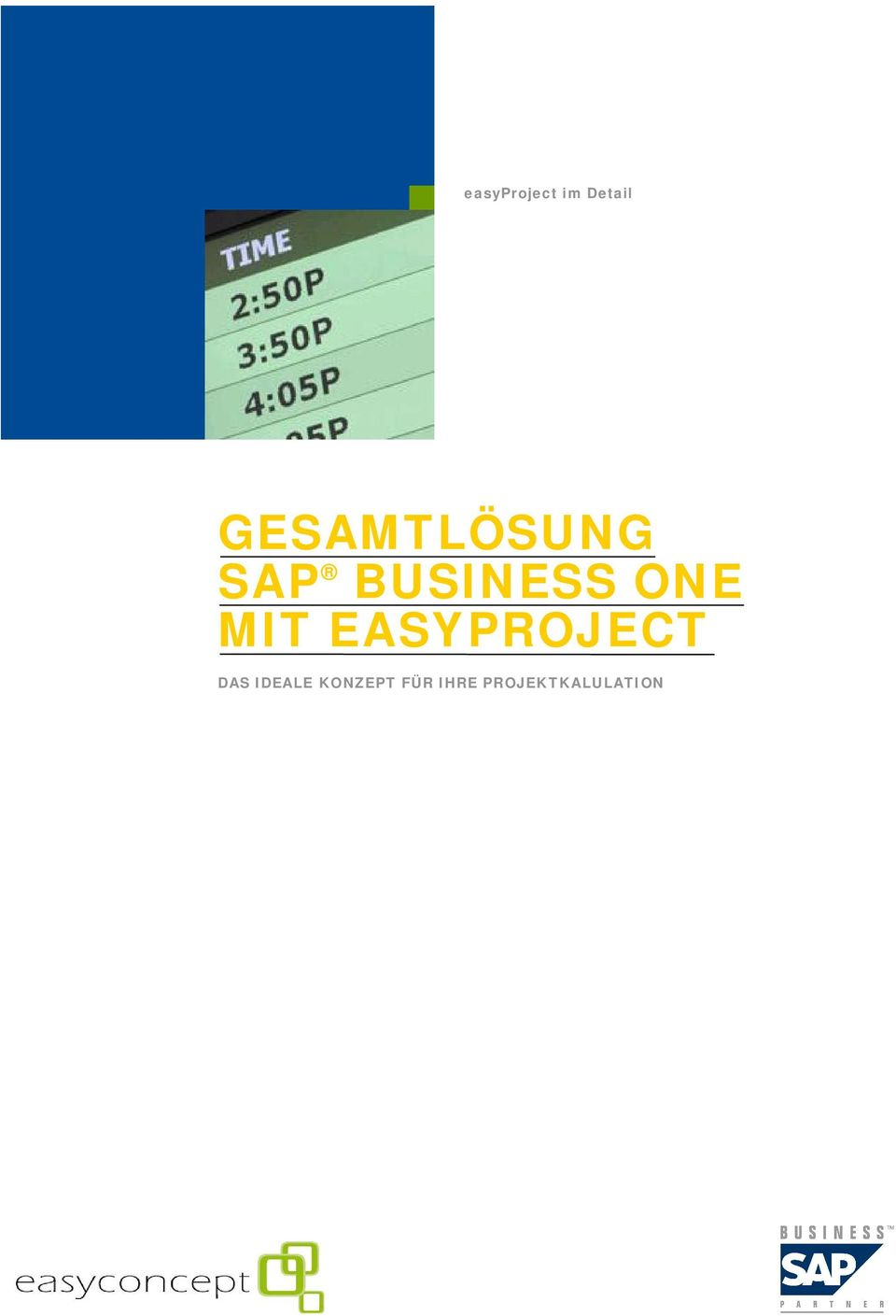 ONE MIT EASYPROJECT DAS