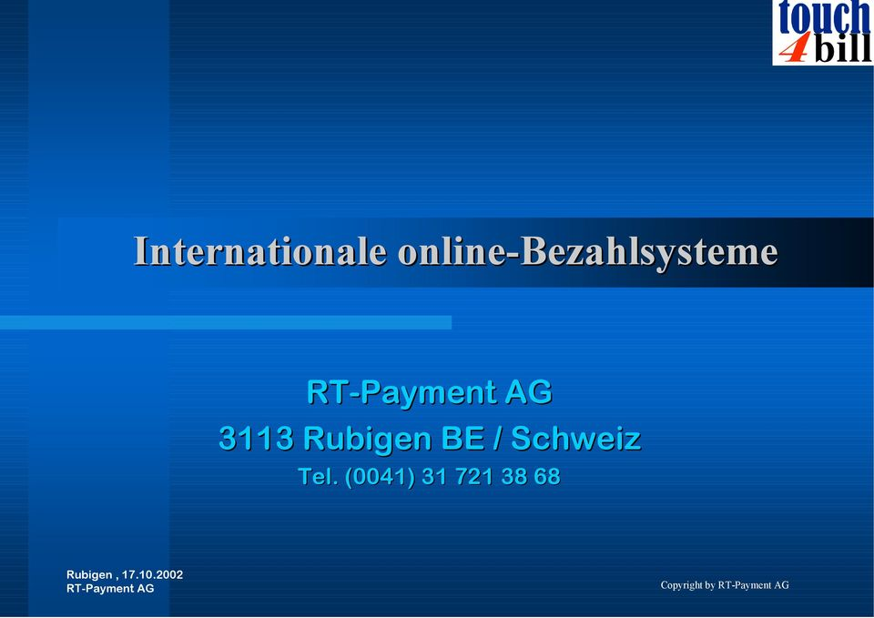 RT-Payment AG 3113 Rubigen BE