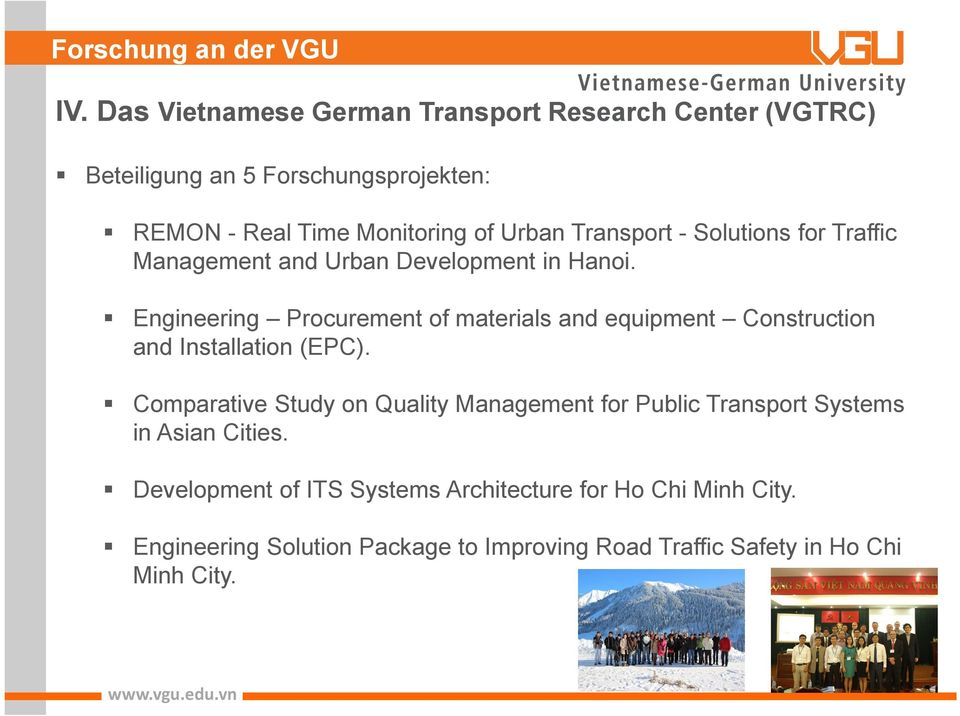 Transport - Solutions for Traffic Management and Urban Development in Hanoi.