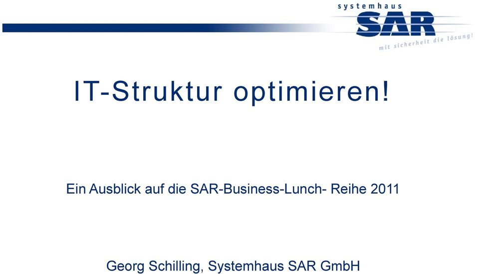 SAR-Business-Lunch- Reihe