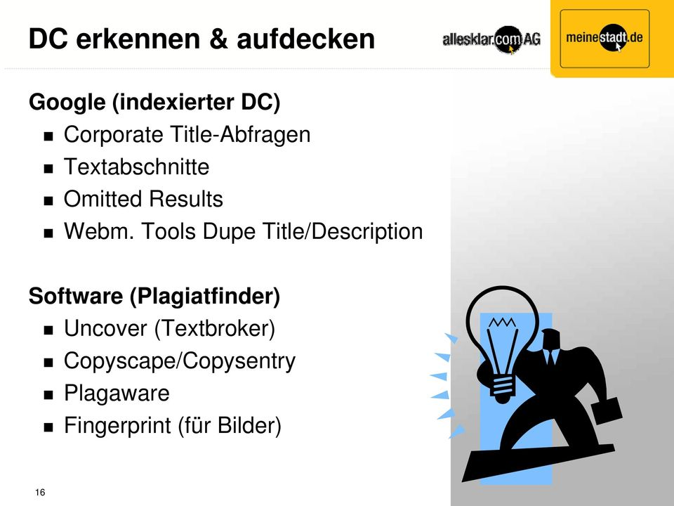 Tools Dupe Title/Description Software (Plagiatfinder)