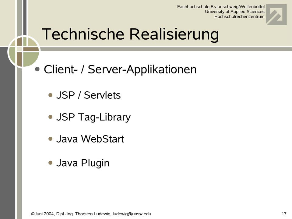 Server-Applikationen JSP /