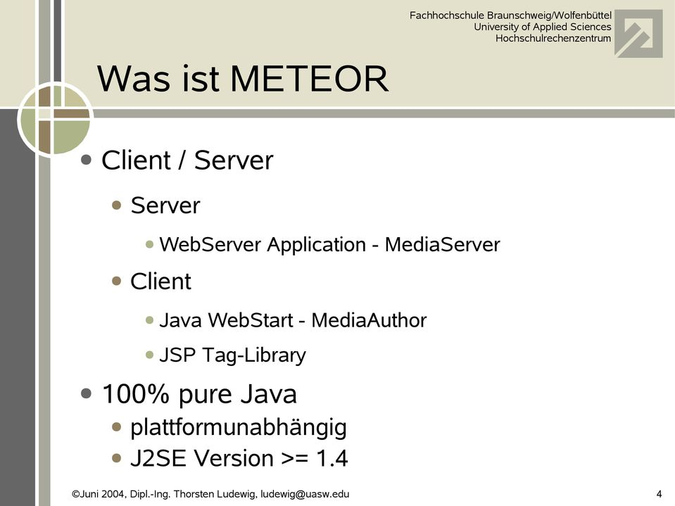 Java WebStart - MediaAuthor JSP Tag-Library