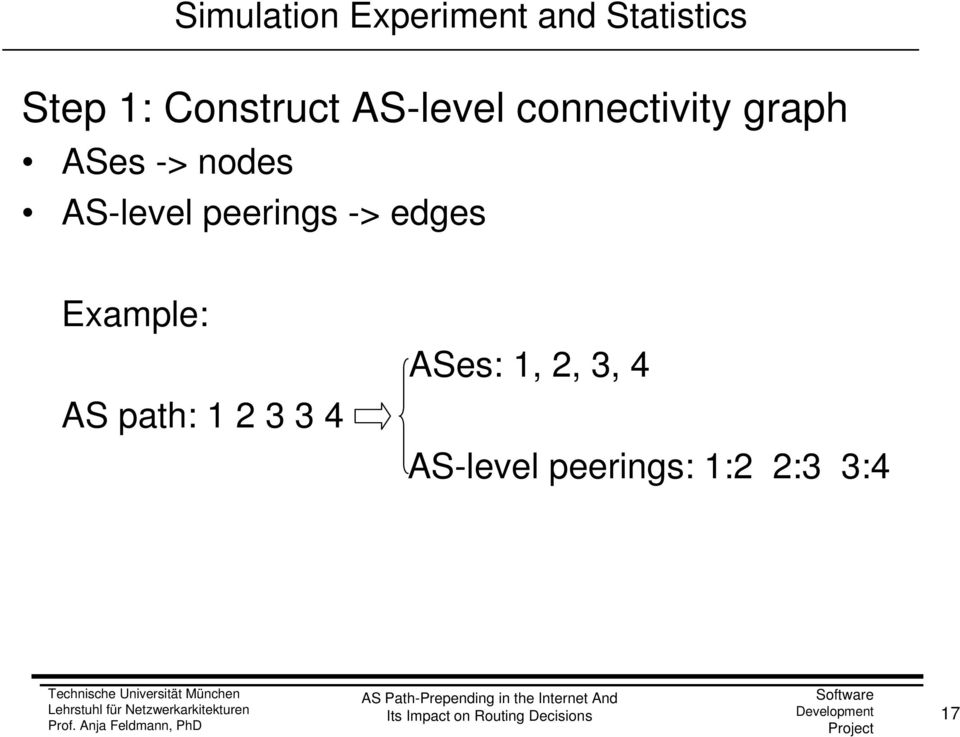 nodes AS-level peerings -> edges Example: AS path: