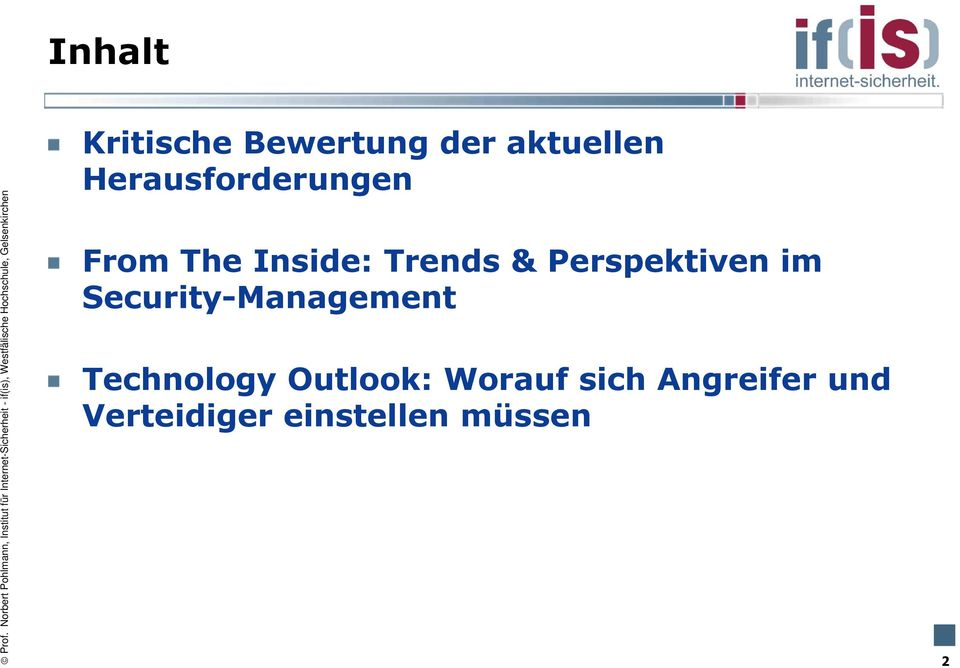 Perspektiven im Security-Management Technology