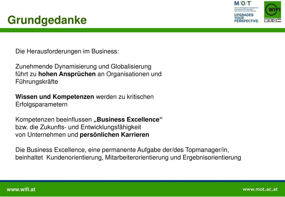 Business Excellence bzw.