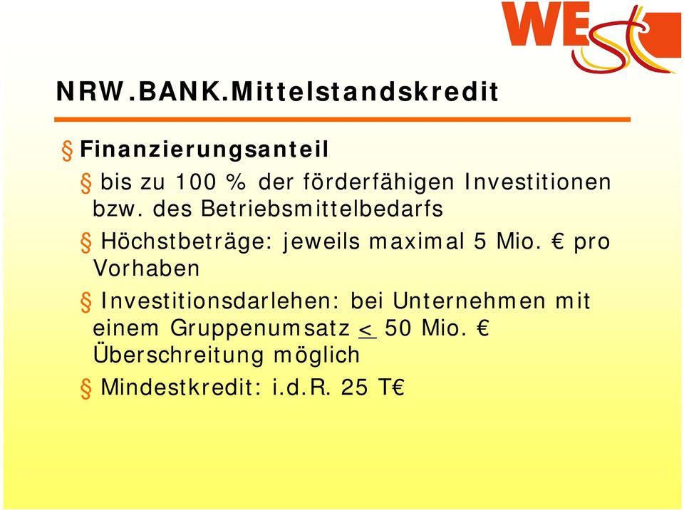 Investitionen bzw.
