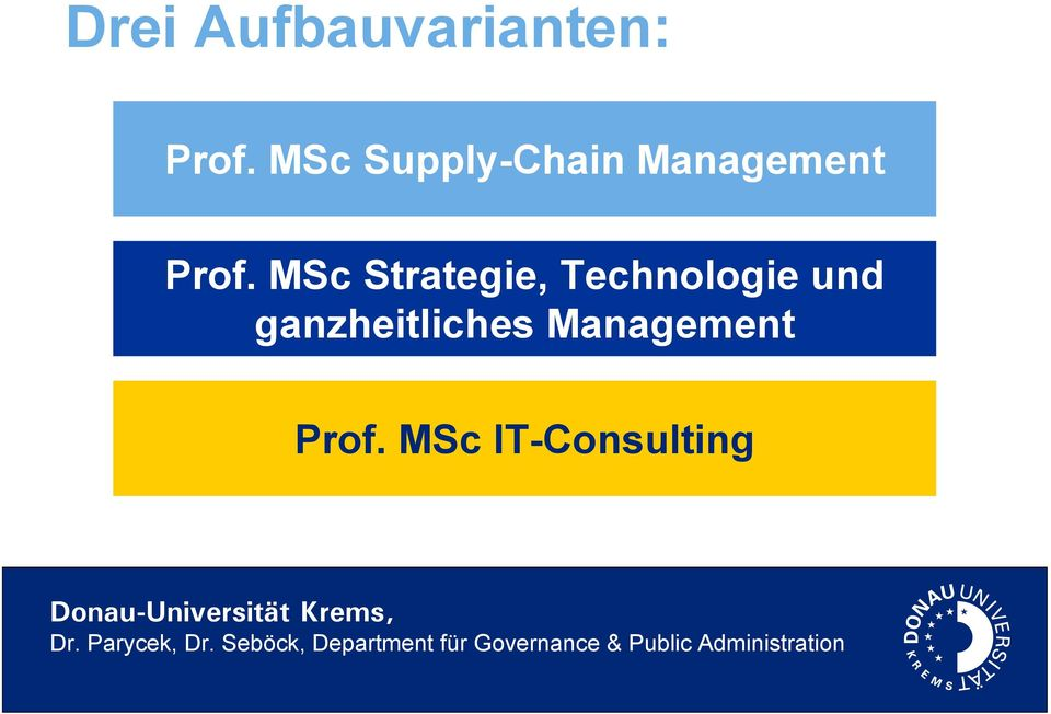 MSc Strategie, Technologie und