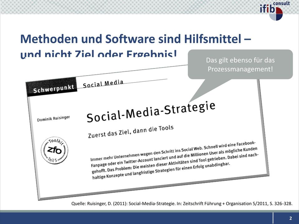 Quelle: Ruisinger, D. (2011): Social-Media-Strategie.