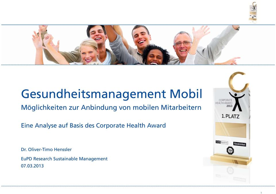 Basis des Corporate Health Award Dr.