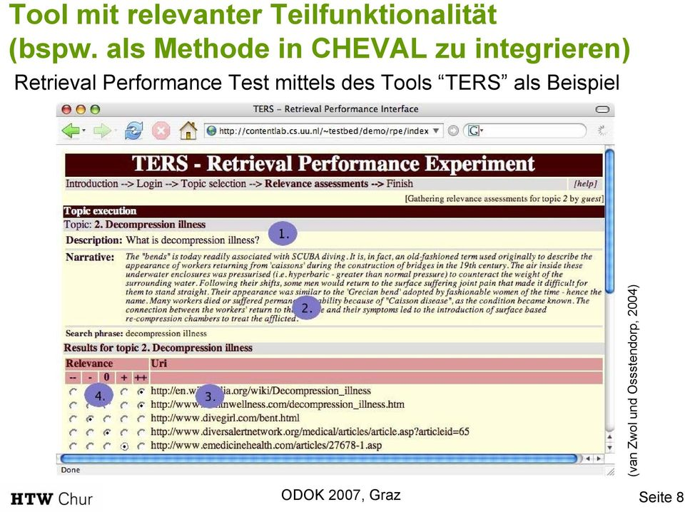 Retrieval Performance Test mittels des Tools